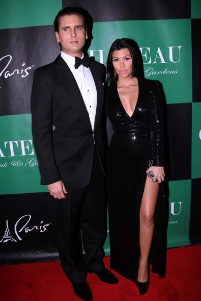 Kourtney Kardashian at the Chateau Nightclub &amp; Gardens New Year's Eve Party