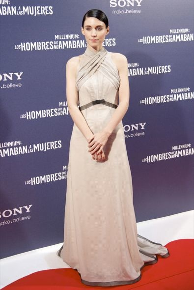 Rooney Mara at the Madrid Premiere of The Girl with the Dragon Tattoo