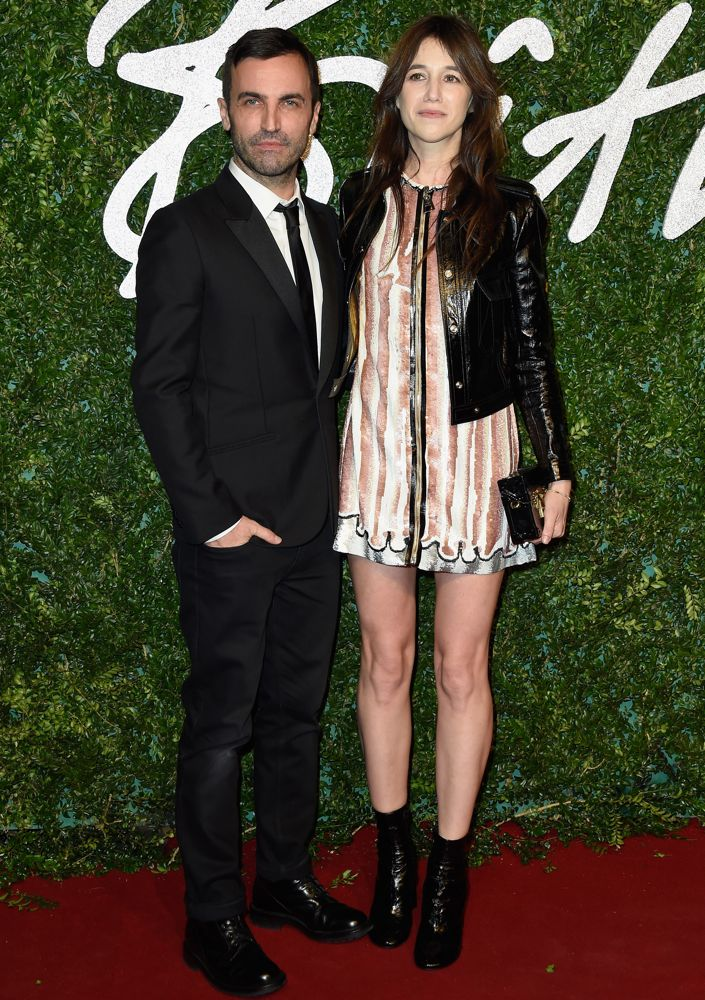 Nicolas Ghesquière and Charlotte Gainsbourg in Louis Vuitton