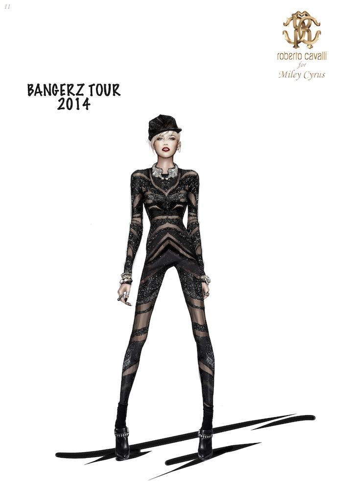 Roberto Cavalli for Miley Cyrus Bangerz Tour