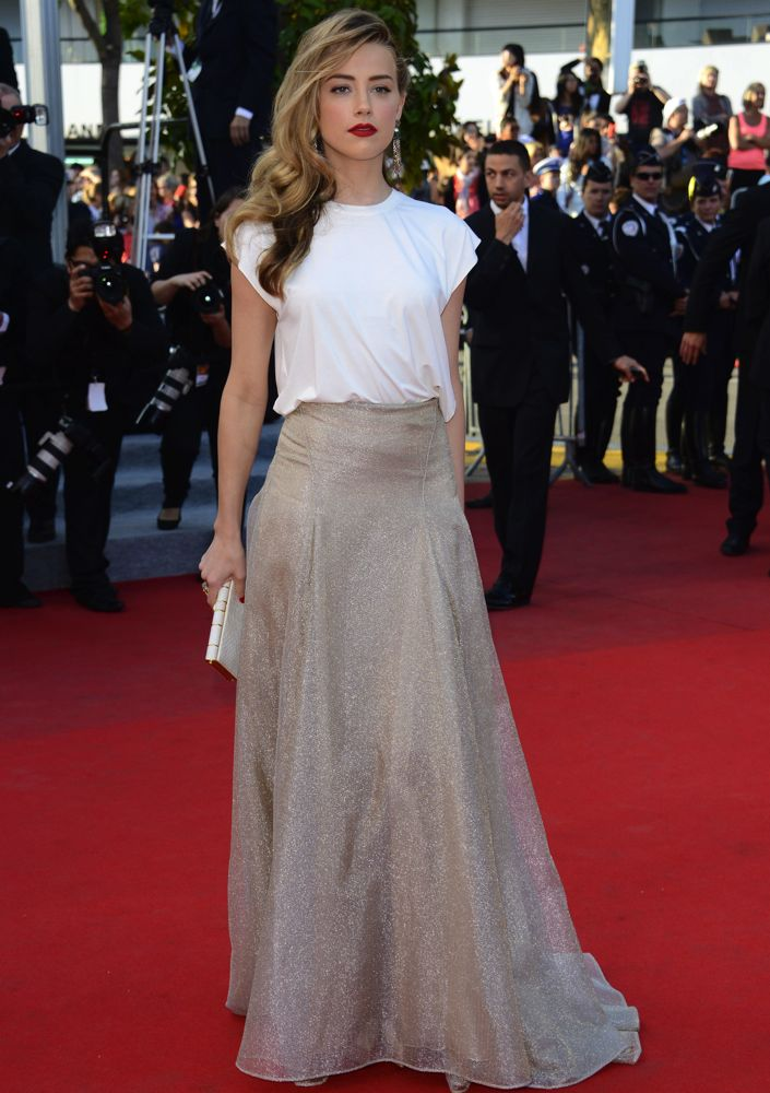 Amber Heard at the Premiere of Two Days, One Night