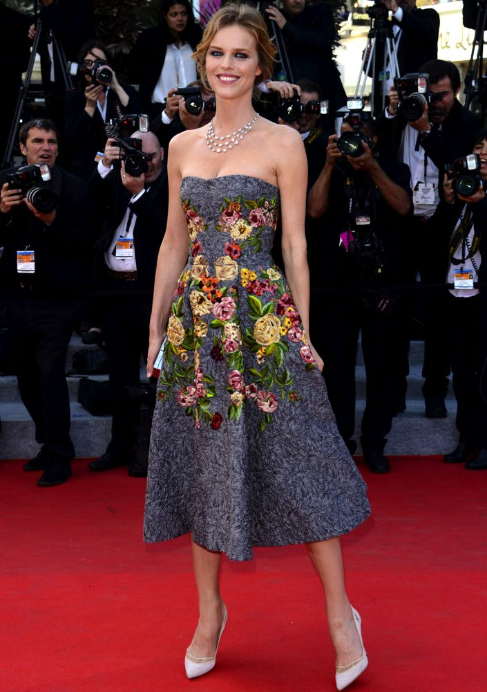 Eva Herzigova at the Premiere of Two Days, One Night