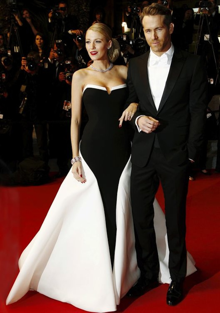 Blake Lively and Ryan Reynolds at the Premiere of The Captive
