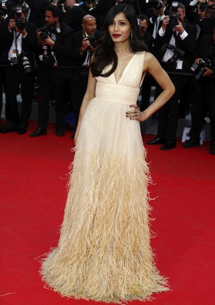 Freida Pinto at the Premiere of Saint Laurent