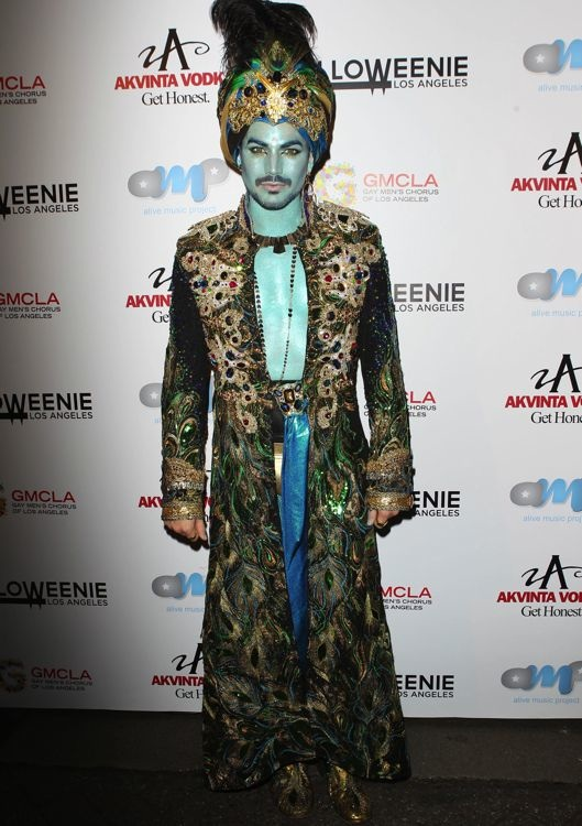 Adam Lambert at Halloweenie 2013 Benefiting Gay Men's Chorus of Los Angeles