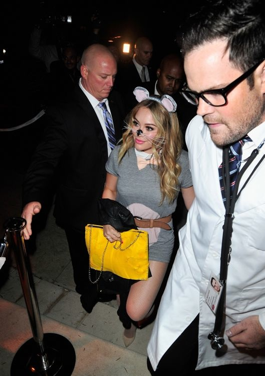 Hilary Duff and Mike Comrie at the 2013 Casamigos Halloween Party