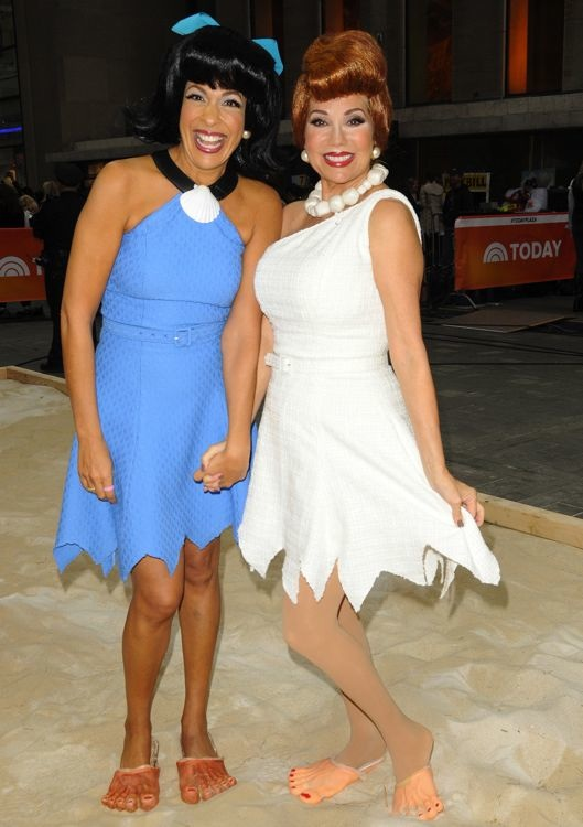 Hoda Kotb and Kathie Lee Gifford Filming The Today Show Halloween Episode