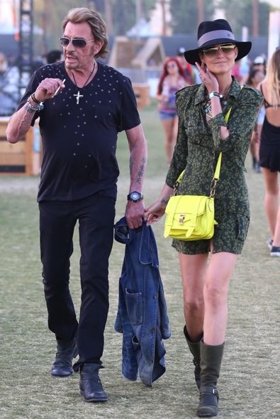 Johnny Hallyday and Laeticia Hallyday Day 2
