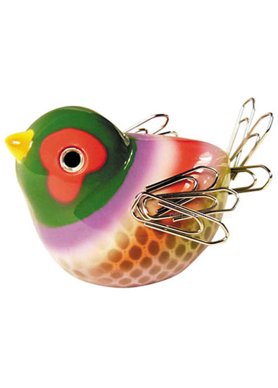 Chirping Bird Paperclip Holder