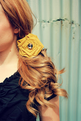 No-Sew Flower Hair Clip