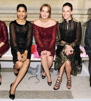 Freida Pinto, Leighton Meester, and Hilary Swank