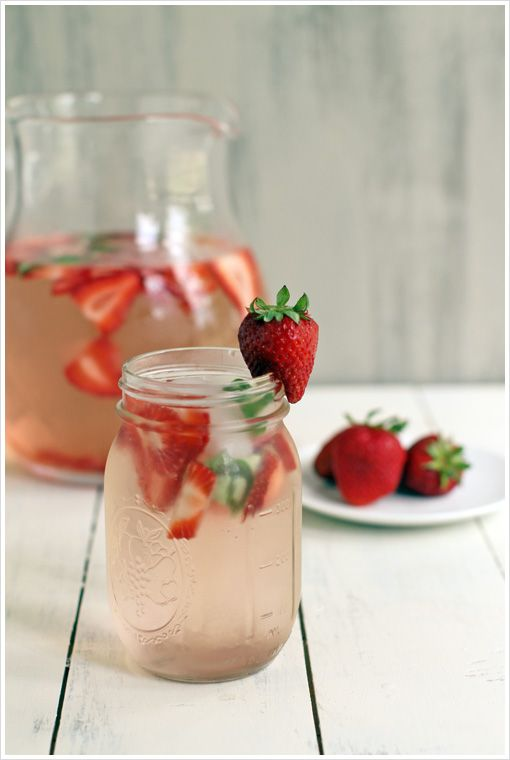 Simple Strawberry and Basil Water