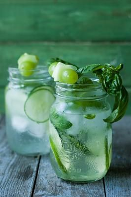 Cucumber, Lime and Basil Water