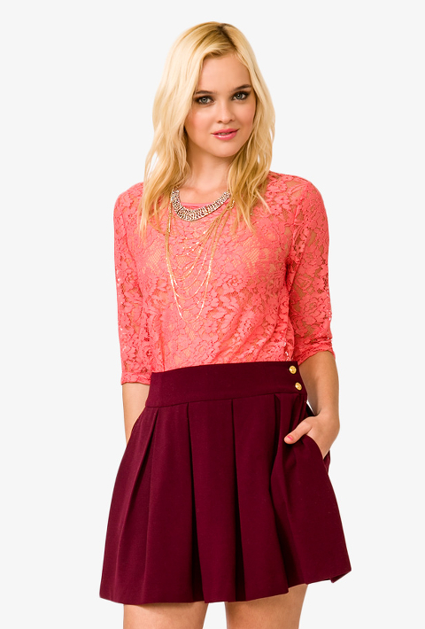 Floral Pattern Lace Top