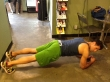 Plank Hold with Hip Rock: Step 1