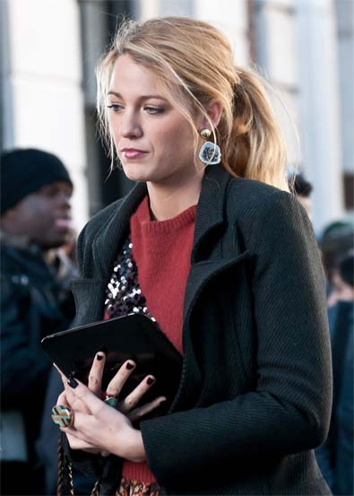 Blake Lively's Side Pony Tail
