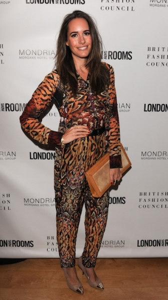 Louise Roe at the British Fashion Council Cocktail Party