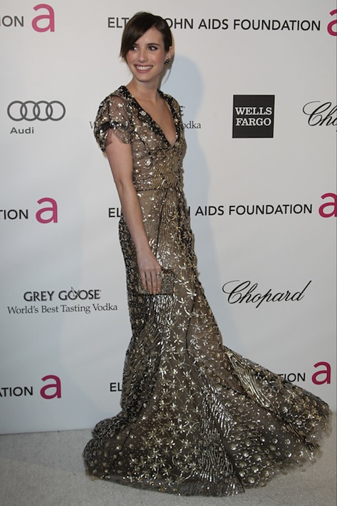 Emma Roberts at the Elton John AIDS Foundation Oscars Party 2011