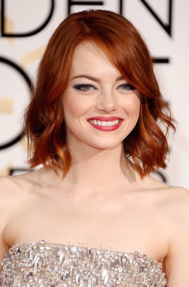 Emma Stone Golden Globes Hair