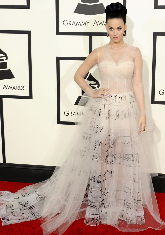 Katy Perry at the 56th Annual Grammy Awards