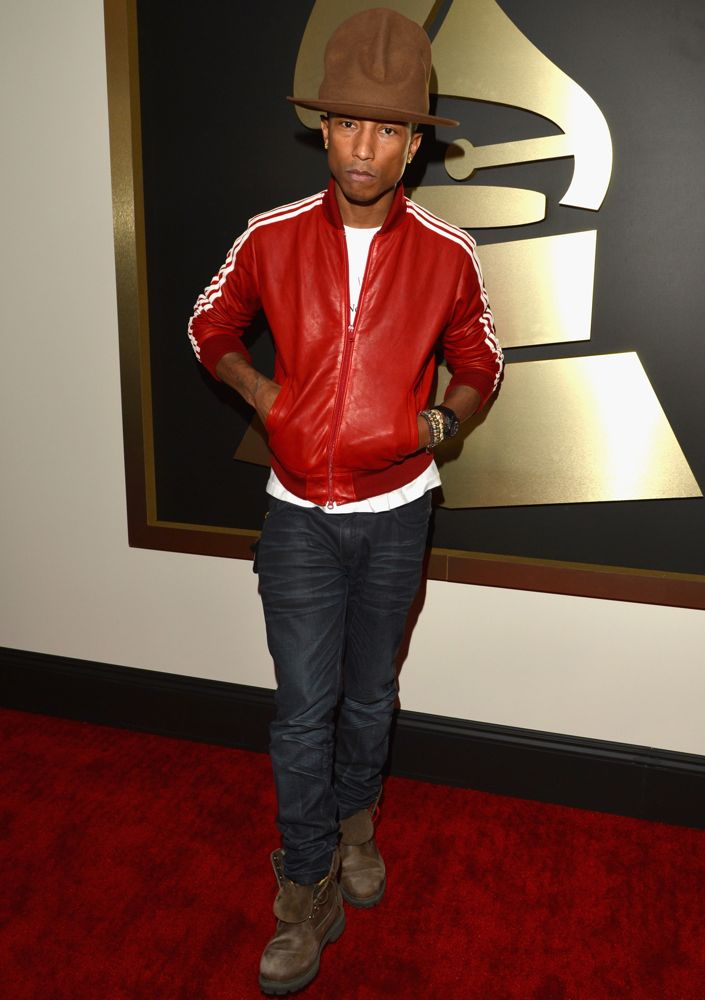 Pharrell at the 56th Annual Grammy Awards