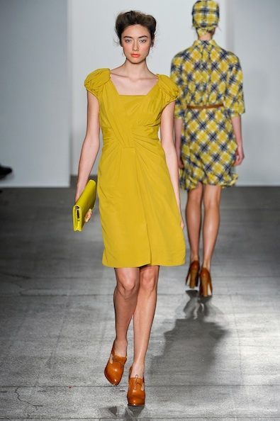 Karen Walker's Mustard Dress