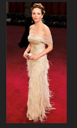 8. Diane Lane at the 2012 Oscars in Oscar de la Renta