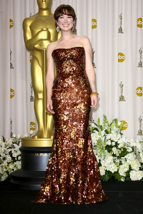 7. Ellie Kemper at the 2012 Oscars in Giorgio Armani