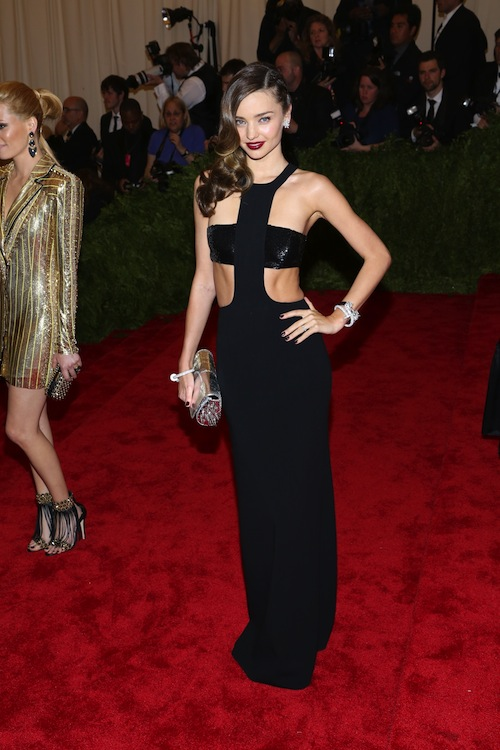 4. Miranda Kerr at the 2013 Met Gala in Michael Kors
