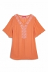 Embroidered Tunic in Orange
