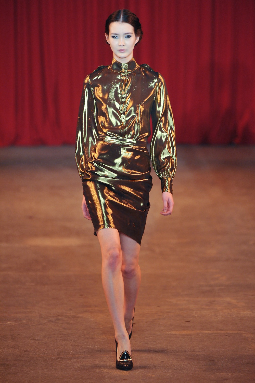 Glossy Gold at Christian Siriano