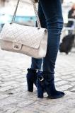 Exquisite navy blue velvet Thakoon heels