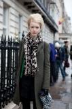 Model leaving Moschino Cheap & Chic