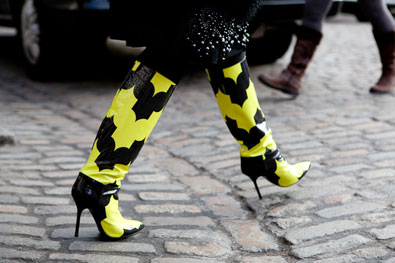 Day 4: Trending fluorescent this season on the boots
