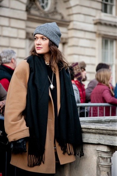 A cool combination of caramel, black and grey at the Somerset House