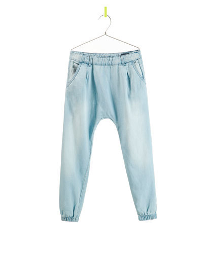 Zara Denim Harem Pants