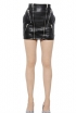 Saint Laurent Zipped Napa Leather Mini Skirt, $2890