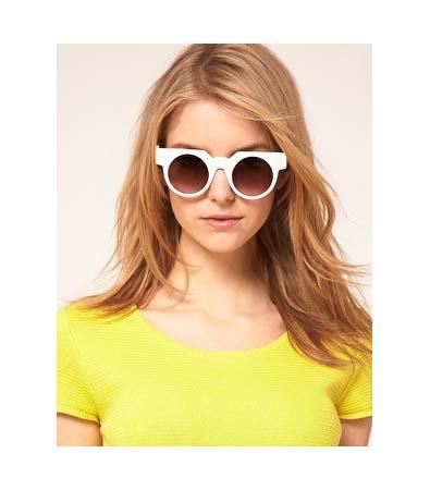 ASOS Flat Top Round Sunglasses
