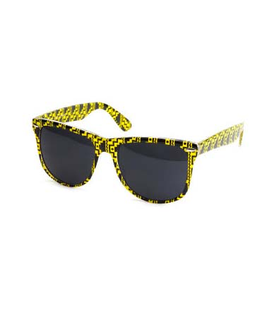 Yellow Aztec Sunglasses
