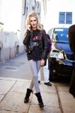Cara de Lavigne leaving the Dsquared show