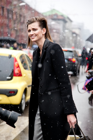 Leaving Etro in the snow