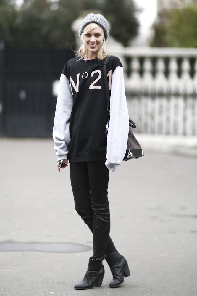 Wear a Luxe Sweatshirt