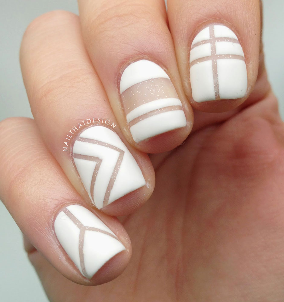 White color nail art - White Graphics