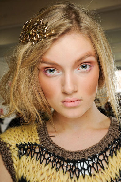 Backstage beauty at Rodarte