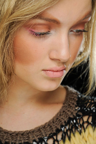 Beauty look at Rodarte