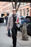 Frida Gustavsson all smiles after leaving Rodarte