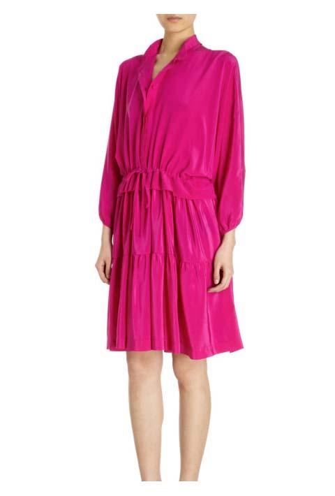 Co Ruffled Skirt Drawstring Dress