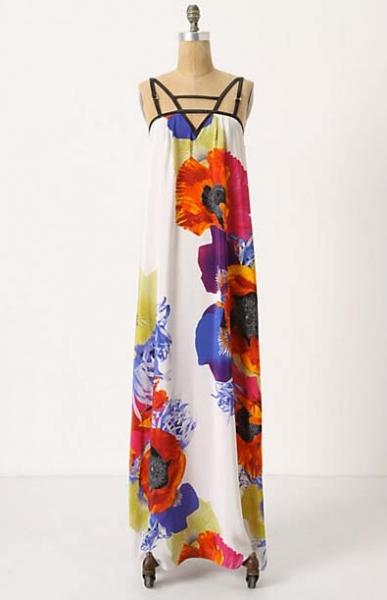 Anthropologie Windblown Anemone Maxi Dress
