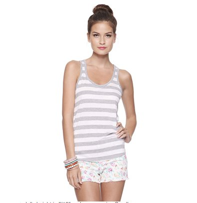 Forever 21 Striped Racerback Tank