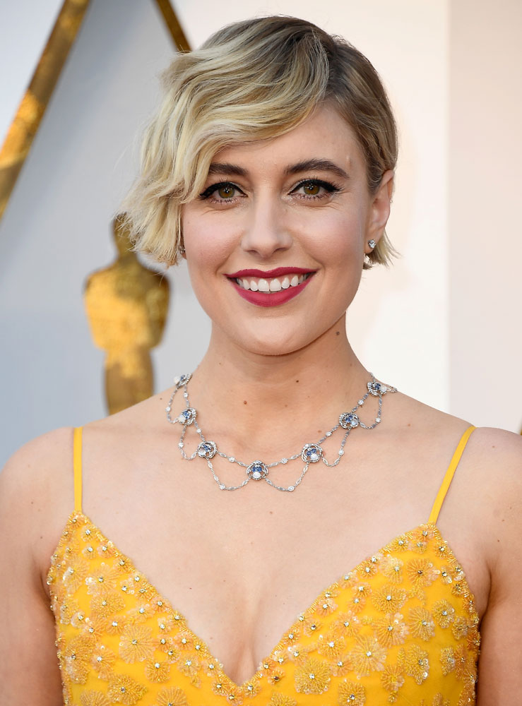 Worst: Greta Gerwig  The Best (and Worst!) Beauty Looks From the 2018 Oscars greta gerwig